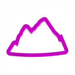 Das Förmchen für Kekse und Lebkuchen Gebirge