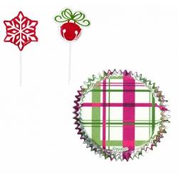 Świąteczne papilotki do muffinek dzwonek i śnieżynka 24 szt. WIlton 415-1891