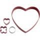 Walentynkowy zestaw foremek serce z mini wykrawaczkami xo 4 szt. Wilton 2308-0216