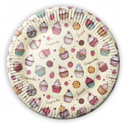 Słodkie babeczkowe talerzyki papierowe w muffinki Cupcakes 8 szt.