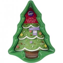 Grüner Weihnachtbaum Metallbackform Wilton 2105-0070