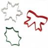 Świąteczny zestaw kolorowych foremek 3 szt. kokarda śnieżynka ostrokrzew Wilton 2308-0131