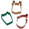 Świąteczny zestaw foremek renifer, głowa Mikołaja i prezent 3 szt. Wilton 2308-1104