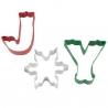 Świąteczny zestaw foremek napis JOY 3 szt. Wilton 2308-3272