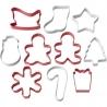 Świąteczny zestaw foremek kolorowych Boże Narodzenie 10 szt. Wilton 2308-5023