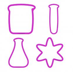 Chemik zestaw foremek do ciastek LABORATORIUM 4 szt.