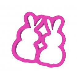 Dwa przytulone do siebie króliczki