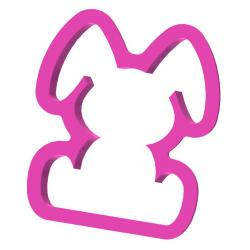 Siedzący króliczek z dużymi uszami