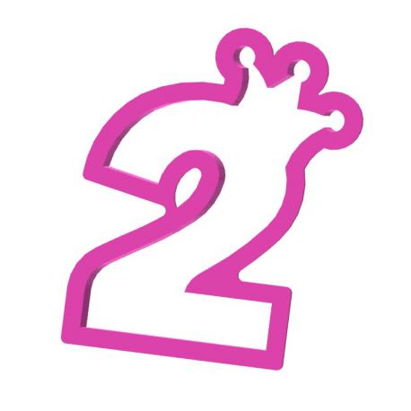Cyfra 2 z koroną 10 cm