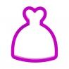 Das Förmchen für Kekse und Lebkuchen Hochzeitskleid