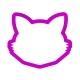 Foremka do ciastek i pierników Głowa kota z wąsami