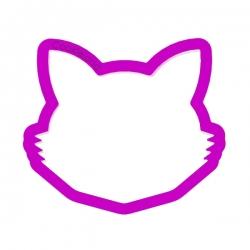 Das Förmchen für Kekse und Lebkuchen Katzenkopf mit Schnurrbart