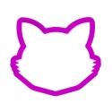 Głowa kota z wąsami