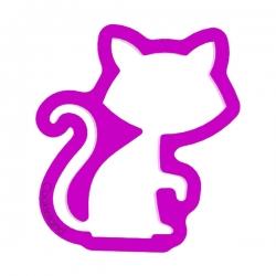 Das Förmchen für Kekse und Lebkuchen Erstaunte Katze