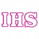IHS napis Pierwsza Komunia Święta
