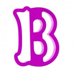 Das Förmchen für Kekse und Lebkuchen Buchstabe B