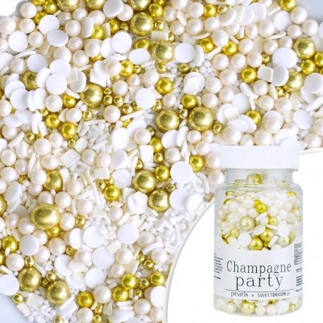 Posypka cukrowa PEARLS CHAMPAGNE PARTY - szampan
