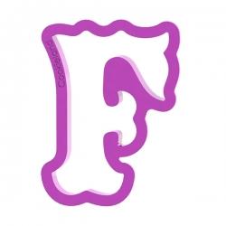 Das Förmchen für Kekse und Lebkuchen Buchstabe F