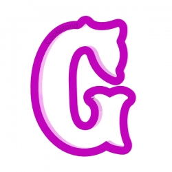 Das Förmchen für Kekse und Lebkuchen Buchstabe G