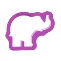Słoń z podniesioną trąbą