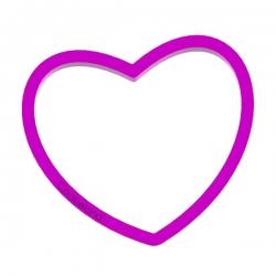 Das Förmchen für Kekse und Lebkuchen Herz