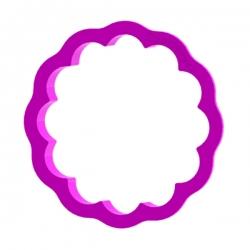 Das Förmchen für Kekse und Lebkuchen Kreis mit Rüsche