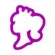 Foremka do ciastek i pierników Głowa księżniczki z koroną