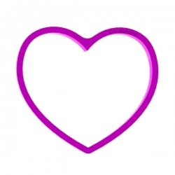 Das Förmchen für Kekse und Lebkuchen Molliges Herz