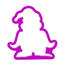 Das Förmchen für Kekse und Lebkuchen Pinguin in Nikolaus-Mütze