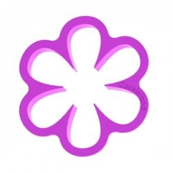 Das Förmchen für Kekse und Lebkuchen Blume