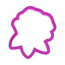 Das Förmchen für Kekse und Lebkuchen Rose mit drei Blättchen