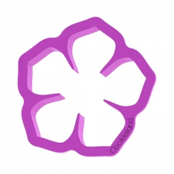 Das Förmchen für Kekse und Lebkuchen Blume Hibiskus