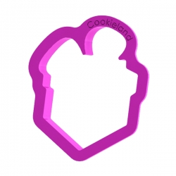 Das Förmchen für Kekse und Lebkuchen Geschenk mit Schleife 2