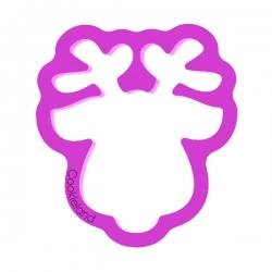 Das Förmchen für Kekse und Lebkuchen Rentierkopf