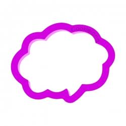 Das Förmchen für Kekse und Lebkuchen Sprechblase 1