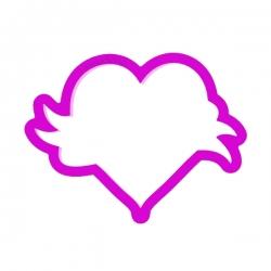 Das Förmchen für Kekse und Lebkuchen Herz mit Schleife