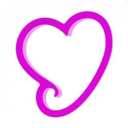 Das Förmchen für Kekse und Lebkuchen Herz mit Schwanz