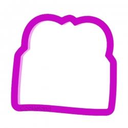 Das Förmchen für Kekse und Lebkuchen Briefumschlag mit Herz