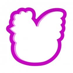 Das Förmchen für Kekse und Lebkuchen Hühnchen