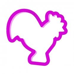 Das Förmchen für Kekse und Lebkuchen Hahn