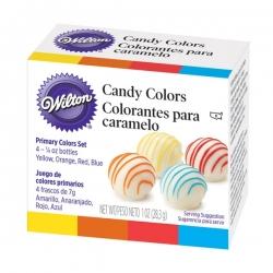 Lebensmittelfarbstoffe für Schokolade 4 Farben Wilton 1913-1299