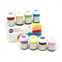 Eine Reihe von Lebensmittelfarben 8 Farben Wilton 03-610